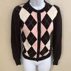 Tommy Hilfiger Argyle Pattern Sweater Size S/P